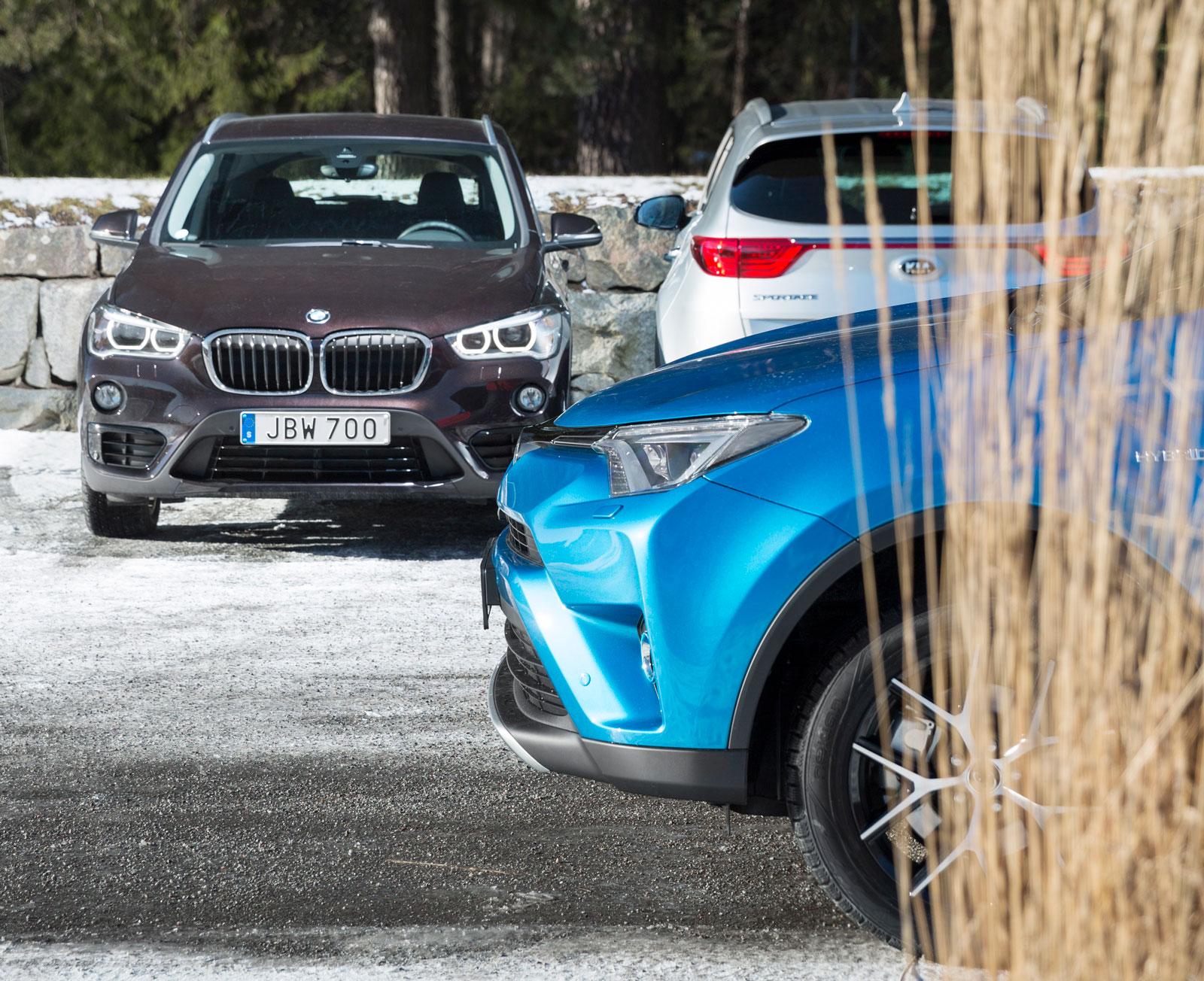 Diesel, bensin och hybrid – i det här testet har drivsätten varierat mer än biltypen.