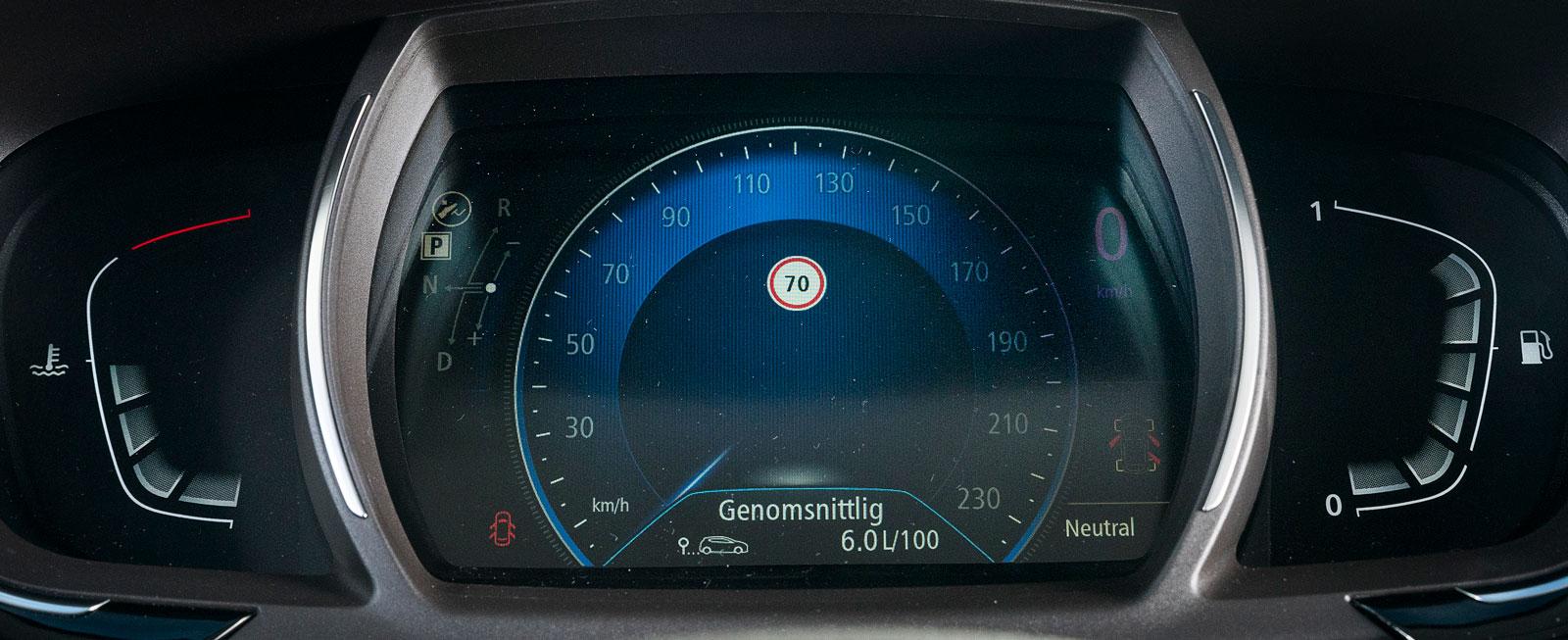 I Renault finns det en hastighetsmätare för alla smaker. Välj mellan fyra olika mätarlayouter i fem olika färger.