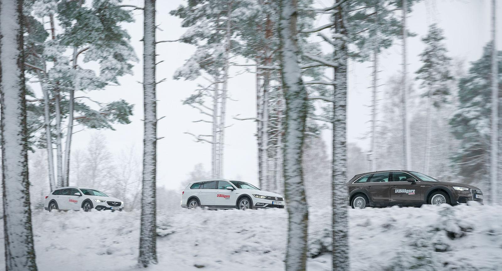 Säkra köregenskaper och hög åkkomfort – långa vinteretapper är inga problem i den här trion.