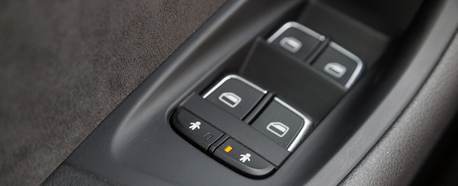 Audi är ensam om att ha elektriska barnsäkerhetslås som standard.