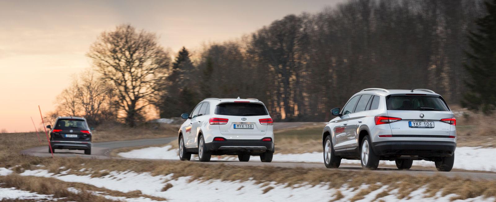 Både Skoda och VW klarar sig precis under 40 kronor i milkostnad medan Kia blir klart dyrare att köra.