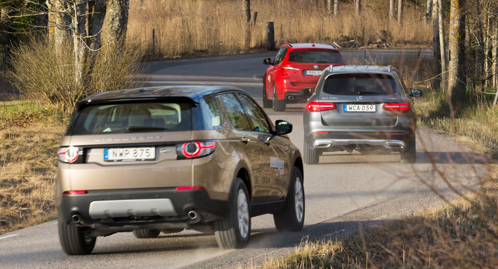 Test: BMW X3, Land Rover Discovery och Mercedes GLC (2016)