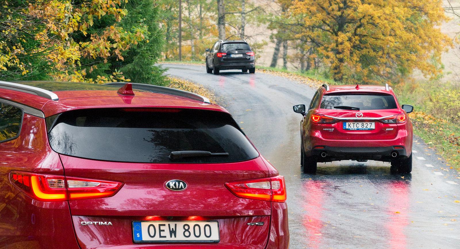Kia, Mazda och Skoda har en formgivning som ligger mycket nära varandra, detaljer skiljer dem åt.