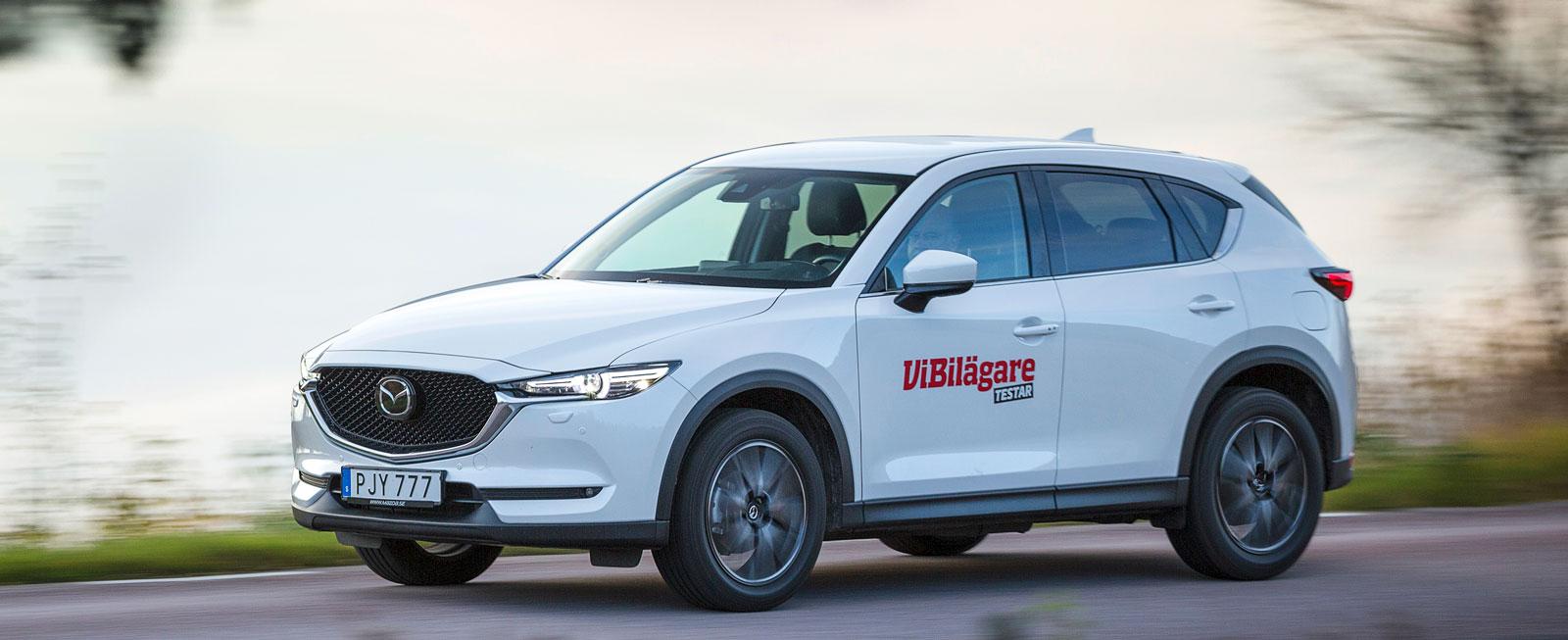 Test: Mazda CX-5, Nissan X-Trail och Renault Koleos (2017)
