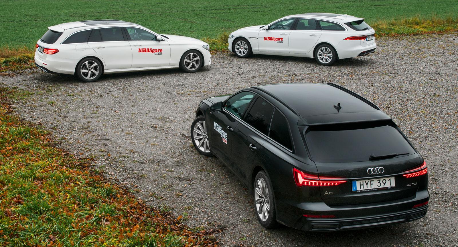 Statusmärket Jaguar visar sig vara rena lågprisbilen i detta flotta sällskap. Testets välutrustade Audi är klart dyrast att köpa.