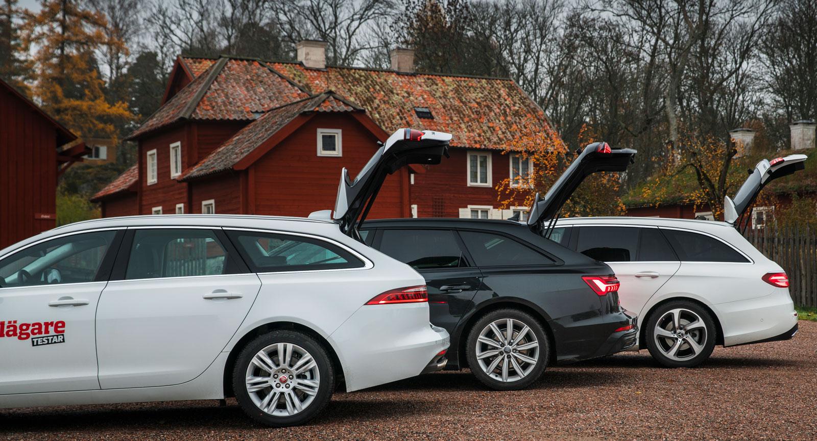 Gapelseberättelsen avslöjar att Mercedes-Benz sväljer mest last, Audi näst mest, Jaguar minst.