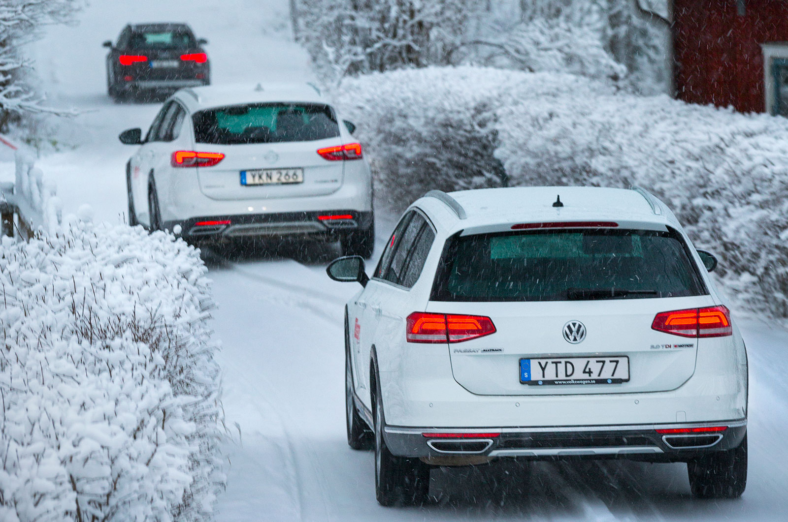 Test: Opel Insignia, Audi A4 Allroad och Volkswagen Passat Alltrack (2018)