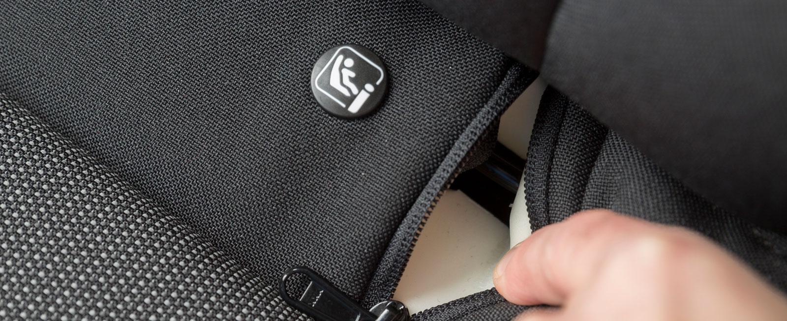 I Citroën finns lämpligt nog Isofix-fästen även i framstolarna.