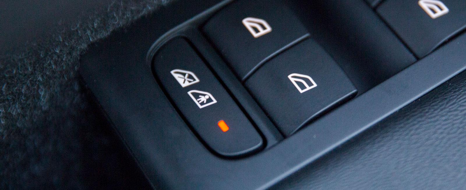 För 900 kr kan Volvo utrustas med elektriska barnsäkerhetslås.