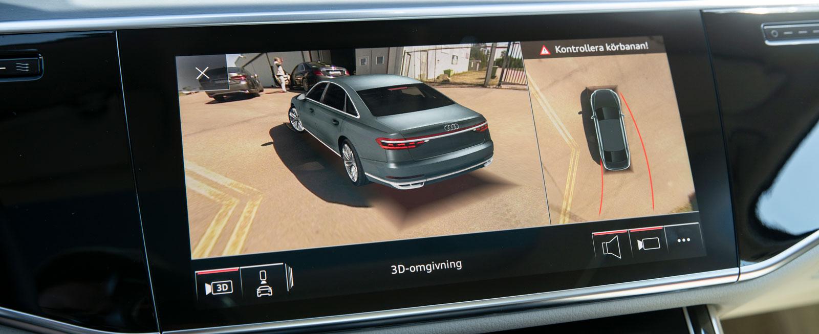 Audis dyraste p-kamerasystem kan visa den egna bilen från alla tänkbara vinklar och håll.