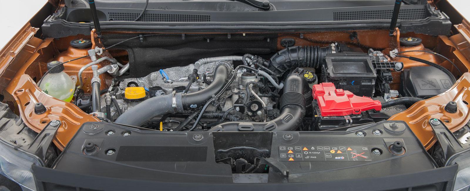 Motorn är bara på 1,2 liter och 125 hk men känns riktigt pigg. Den var dessutom snålast på bensindropparna i testtrion.