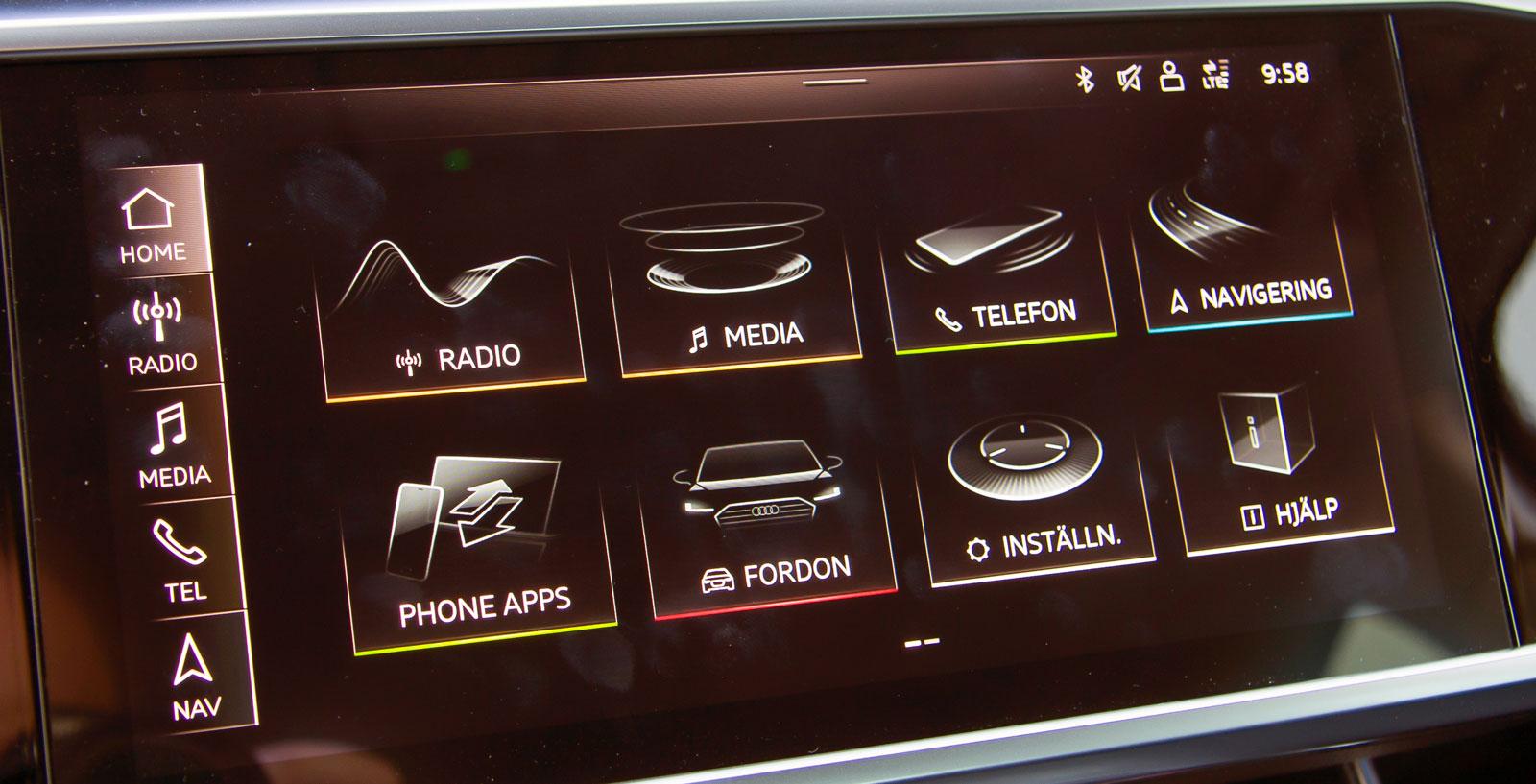 Audis nya system med dubbla skärmar är genomtänkt och har tryckkänslighet som kan justeras. Den nedre kan dessutom användas som skrivplatta.