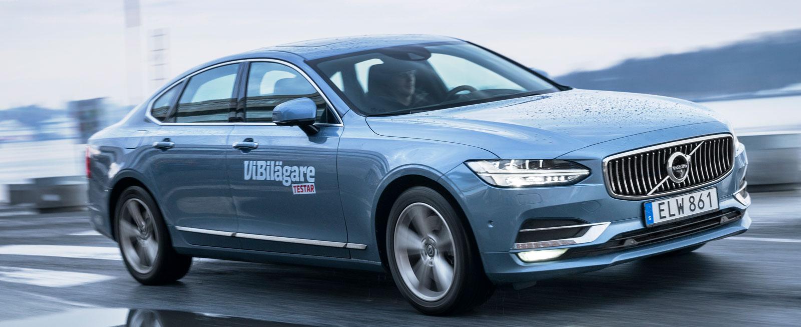 Test: BMW 5-serie, Mercedes E-klass och Volvo S90 (2017)