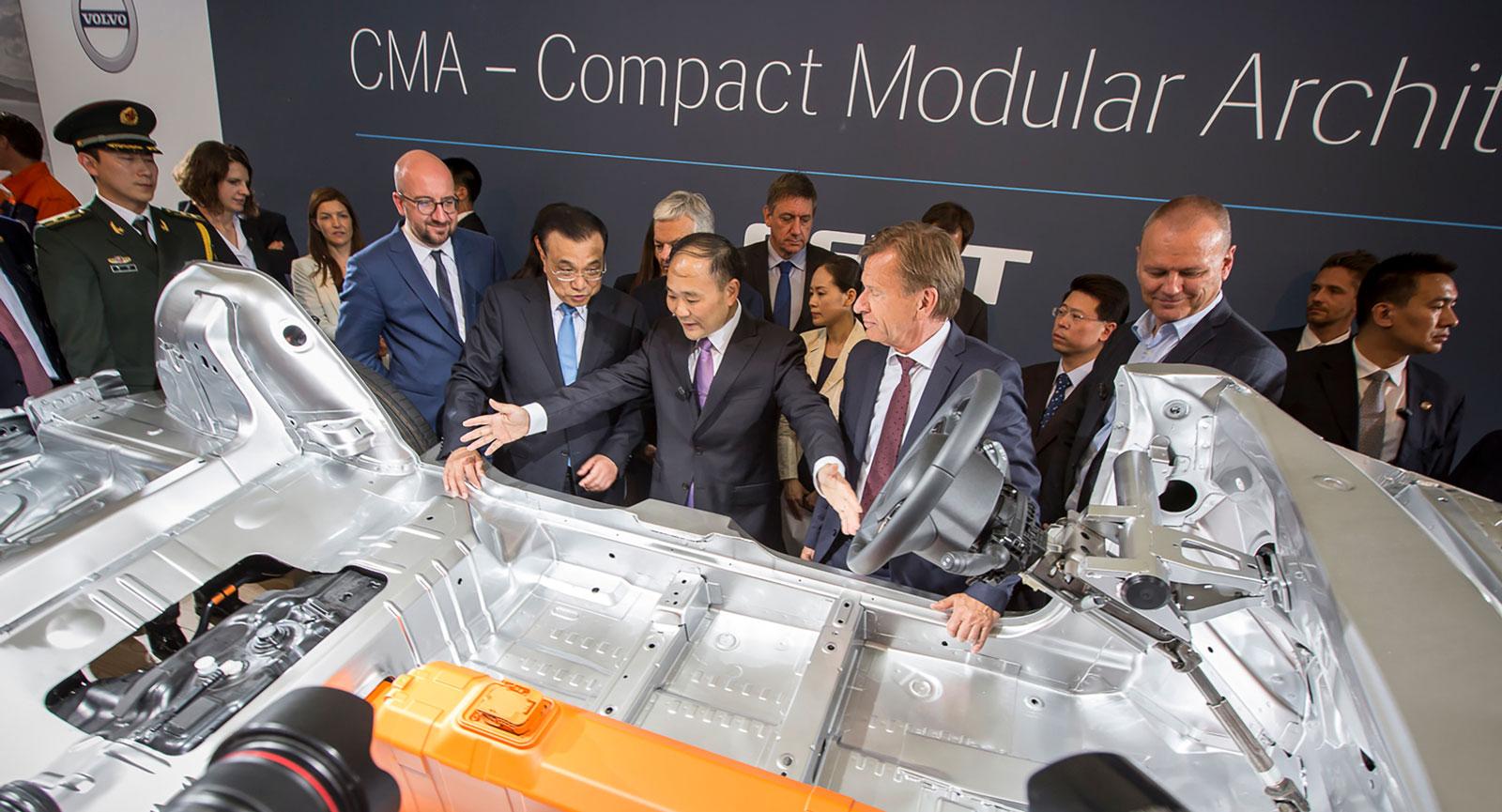Geelys ägare Li Shufu bygger ett imperium. CMA-plattformen ska användas av Volvo, Lotus, Polestar, Lynk & Co med flera. (Foto: CEVT).