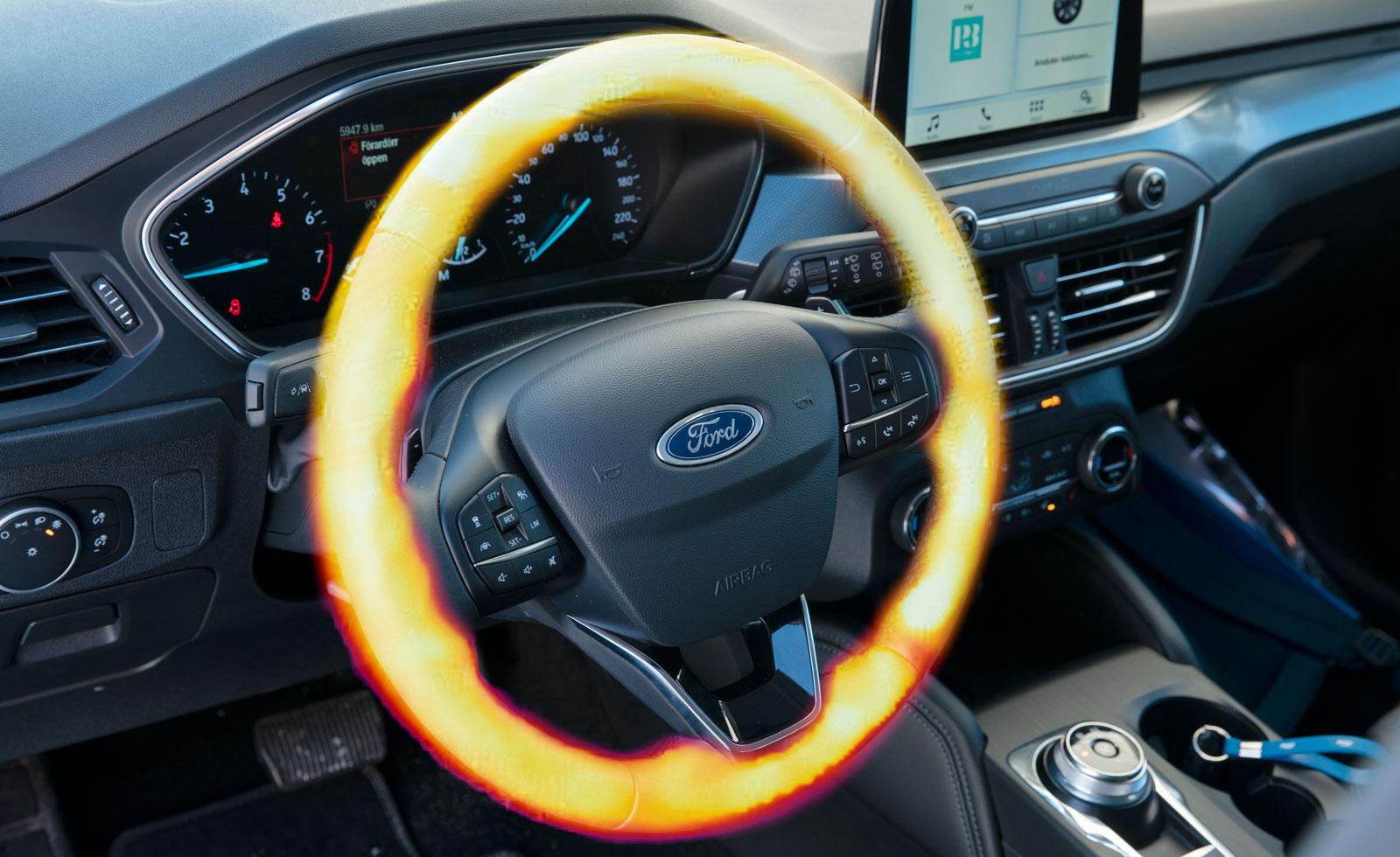 Fords rattvärme skenade raskt upp i maxtemperatur.