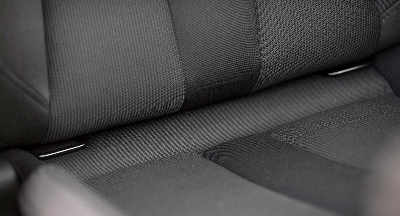Passagerarstolen fram i Audi har Isofixfästen som standard.