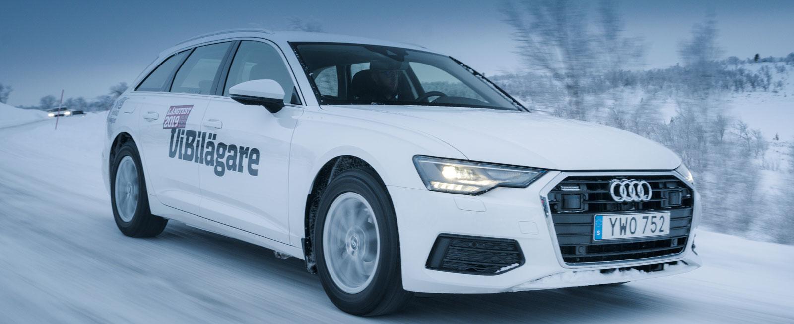 Testvärden: Audi A6, Dacia Duster, Ford Focus, Hyundai Kona och Volvo V60 (2019)