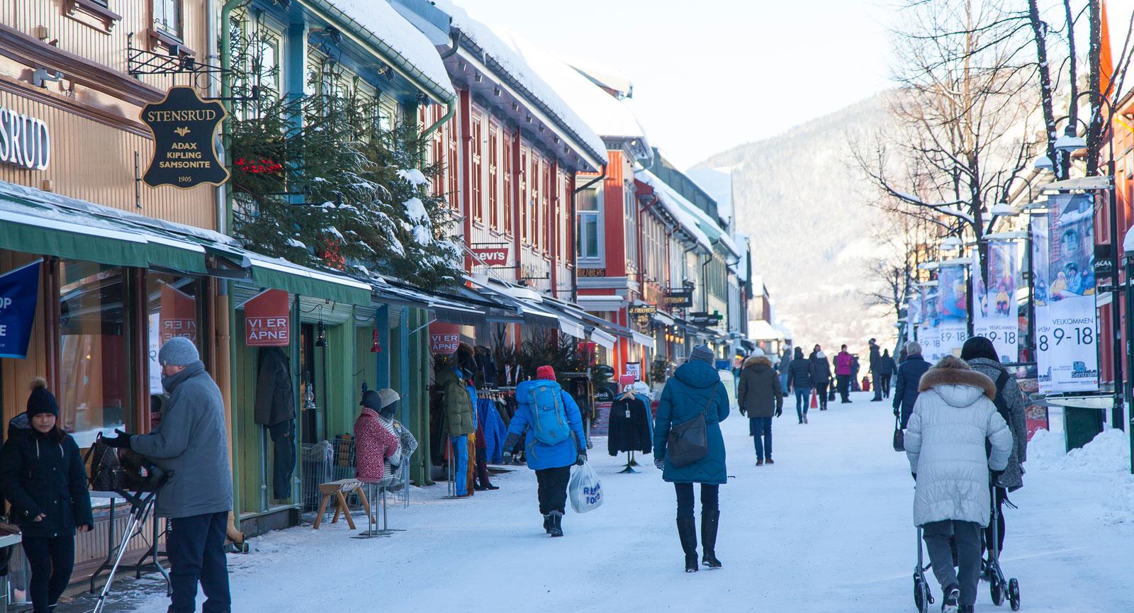 Storgata är pulsådern i centrala Lillehammer.