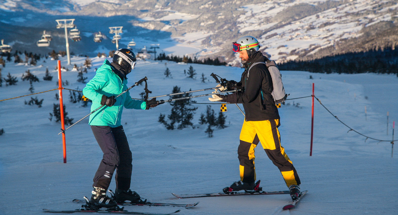 I Hafjell med vidunderlig utsikt ända bort till Jotunheimen avgjordes slalomtävlingarna och kombinationen i OS i Lillehammer 1994.