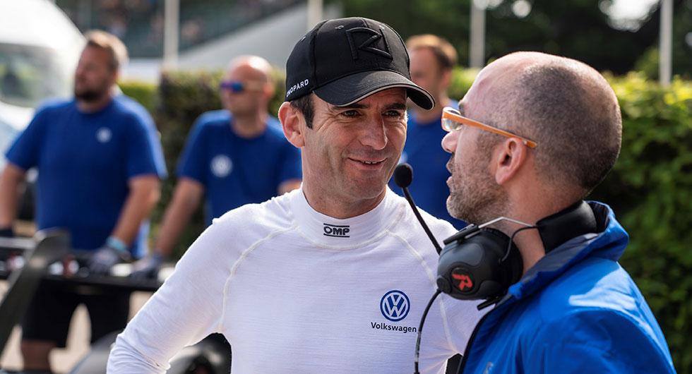 Romain Dumas. Foto: VW Motorsport