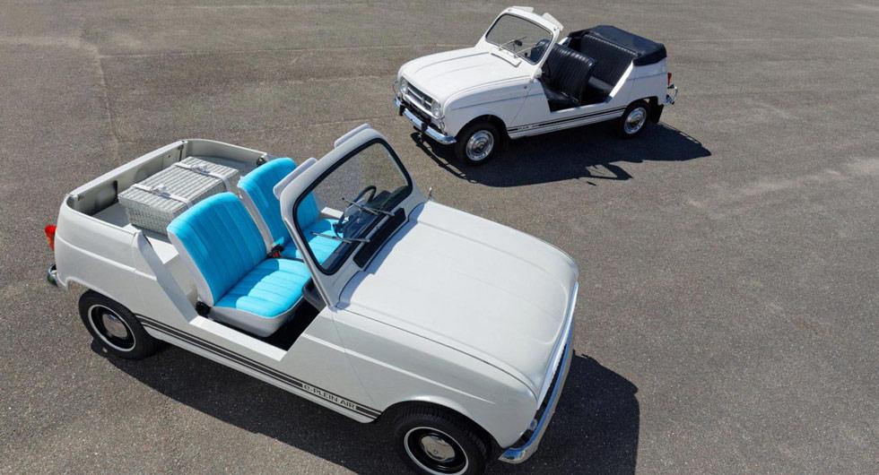 Klassiska Renault 4 som elbil