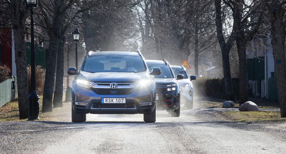 Stads- och lågfartstrafik är hybridbilarnas hemmaplan medan Citroën helst kryssar på landsväg.