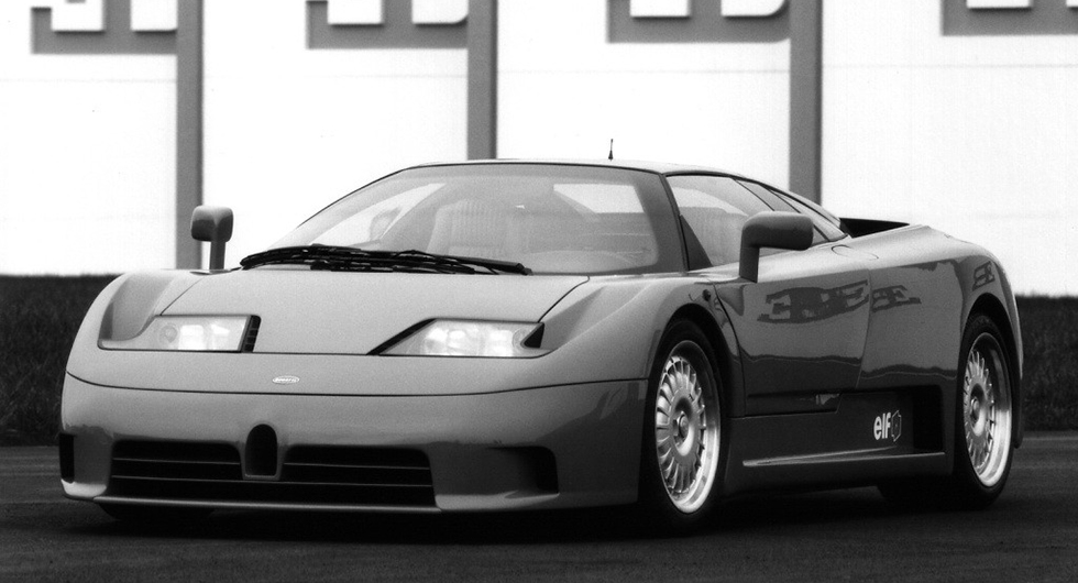 Bugatti EB110 från 1990-talet.