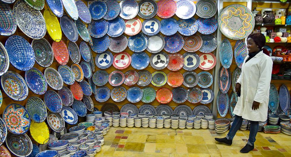 De som vill handla med sig keramik hem har många varianter att välja på i butikerna.