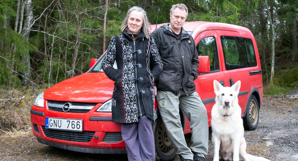 Malin Hülpers och Jan Levander hade precis haft sin Opel Combo inne på verkstad för att laga gassystemet när bilen skulle in på besiktning.