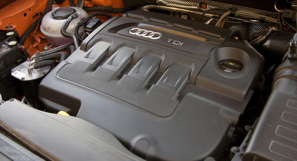 Audi: Dieselmaskinen på 190 hk döljer sig bakom den kryptiska benämningen. En stark men inte påtagligt bränslesnål kraftkälla.