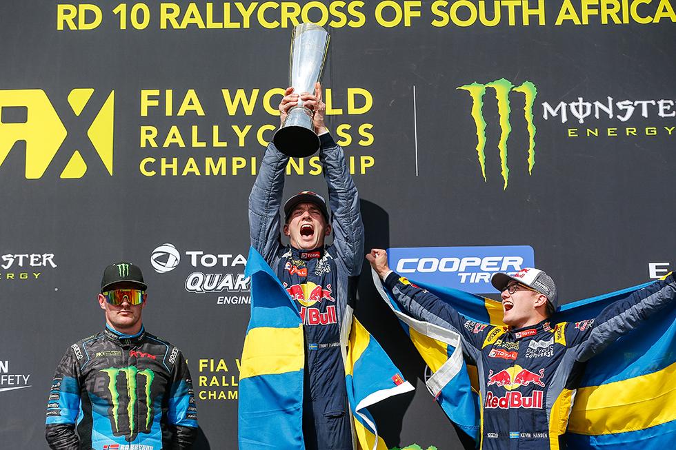 Timmy Hansen är världsmästare i rallycross