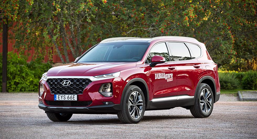 Hyundai Santa Fe 2,2 CRDi (7p). Grundpris: 464 800 kr.
