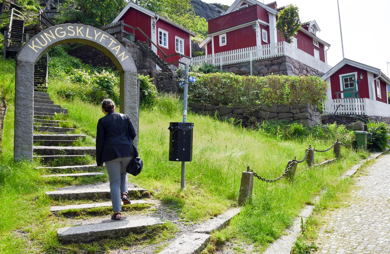Kungsklyftan i Fjällbacka är en av de platser som finns med i Camilla Läckbergs kriminalromaner.