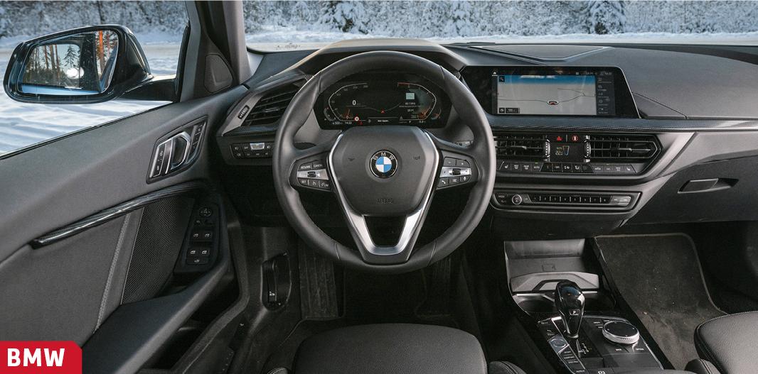 Bekant förarmiljö för tidigare BMW-förare. Goda inställningsmöjligheter på stol och rattstång.