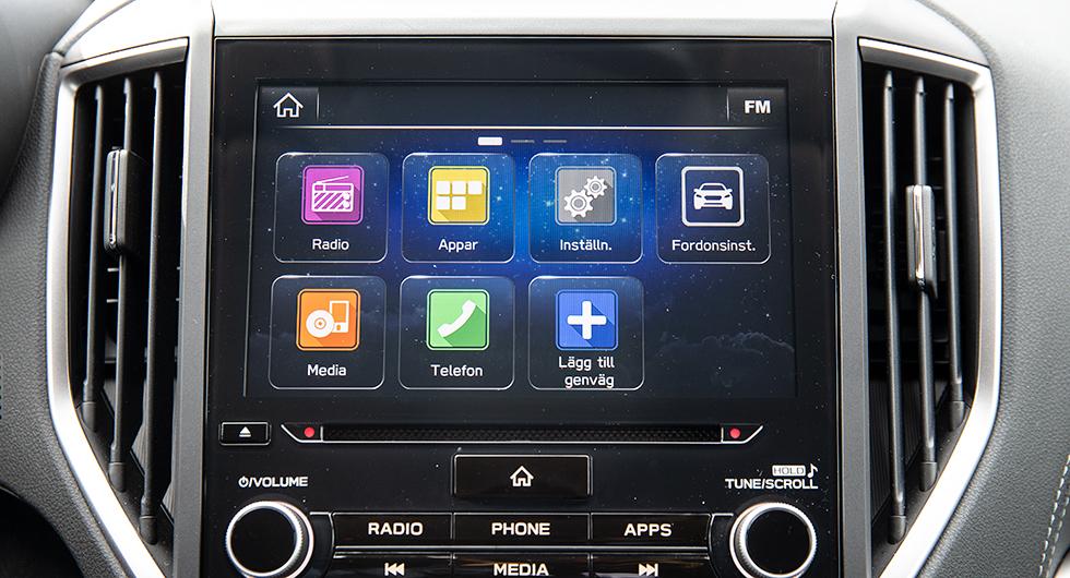 Subarus Starlink är en handhavandemässig mardröm. Systemet saknar logik och skärmen hänger sig för jämnan.