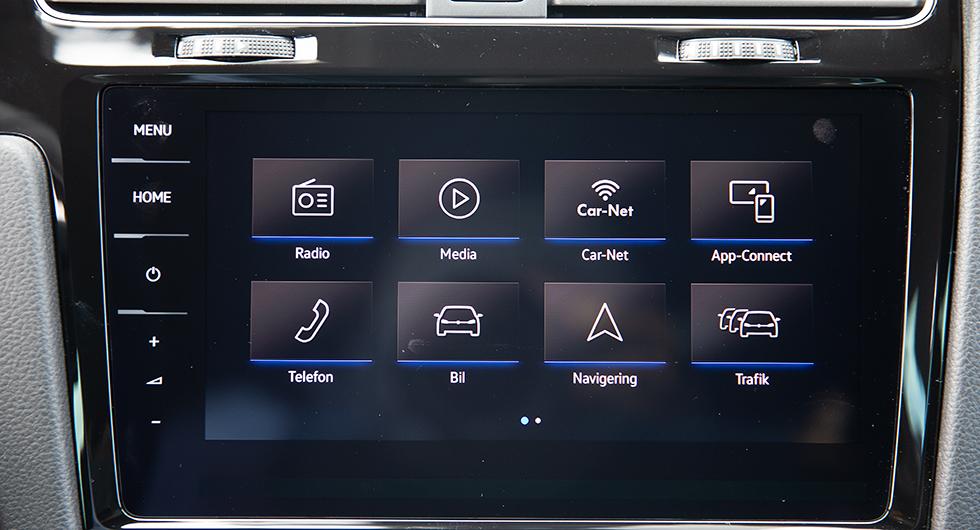 Den dyraste varianten av mediesystem från VW har större skärm och är lätt att använda.