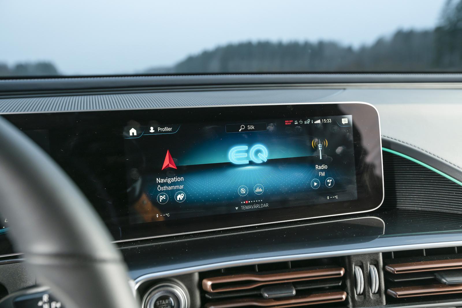 Mercedes: Samma upplägg som i övriga Mercedes-programmet. Välfungerande och smidigt att använda.