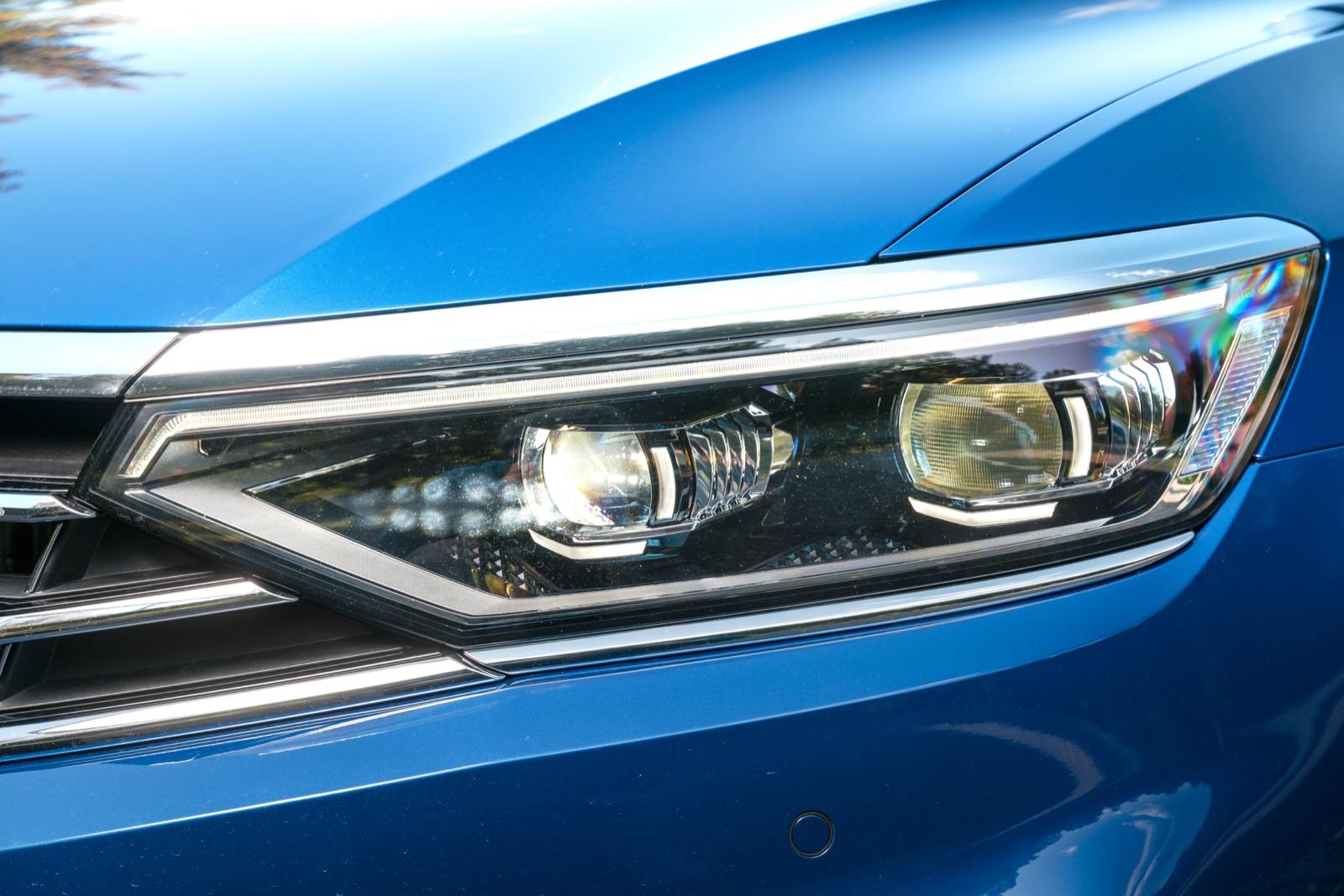 Passats nya iQ-Matrix LED-ljus är bland de bästa vi uppmätt.