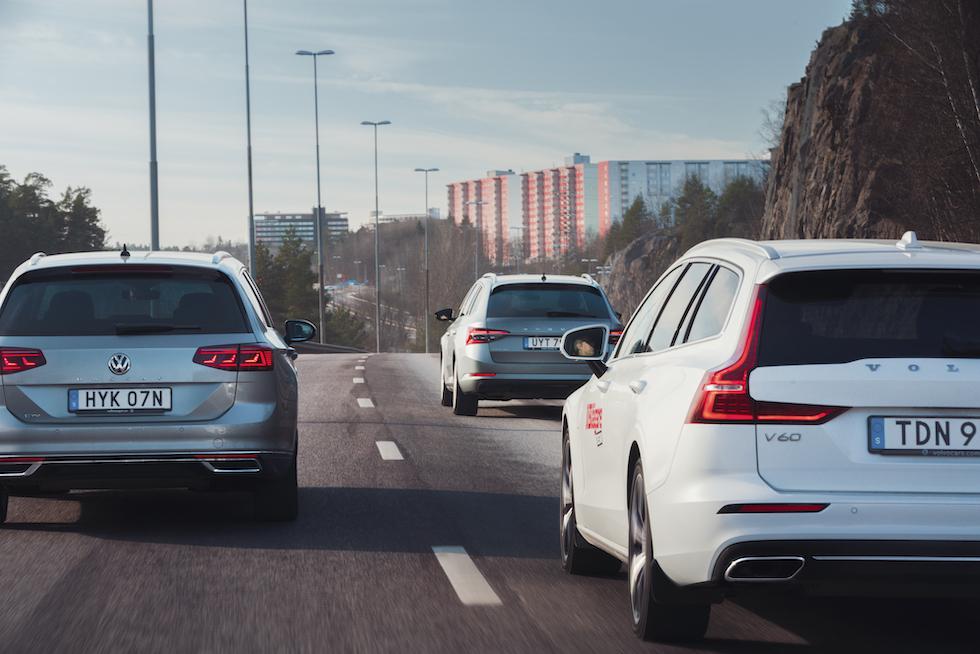 """I alla tre kan batteriladdning sparas vid landsvägskörning så att stadskörning blir """"ren""""."""