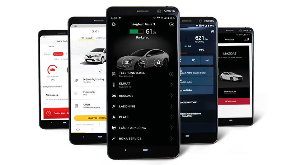 Test av 5 uppkopplade bilar: Bästa infotainmentsystemet vinner!