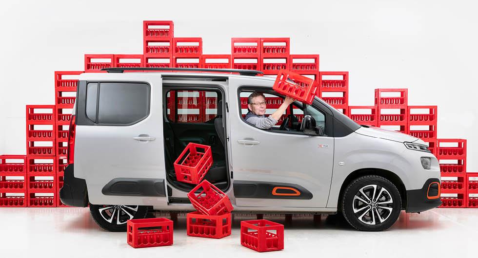 Citroën Berlingo utnyttjar sin storlek mycket effektivt.