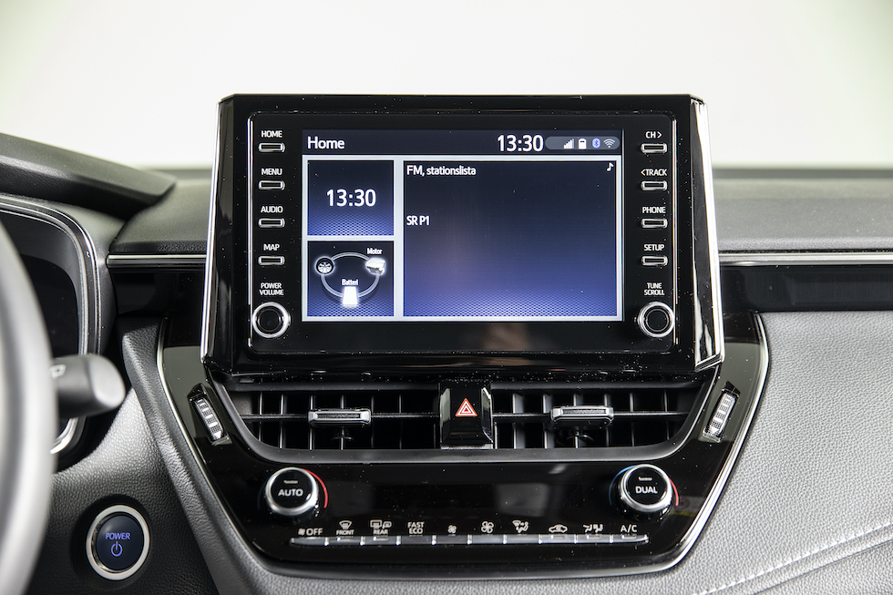 Mediaskärmen i Toyota Corolla.