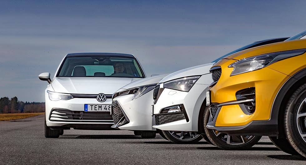 Kia, Skoda och Toyota – tre folkliga utmanare sticker ut hakan och utmanar sin nya klasskamrat.