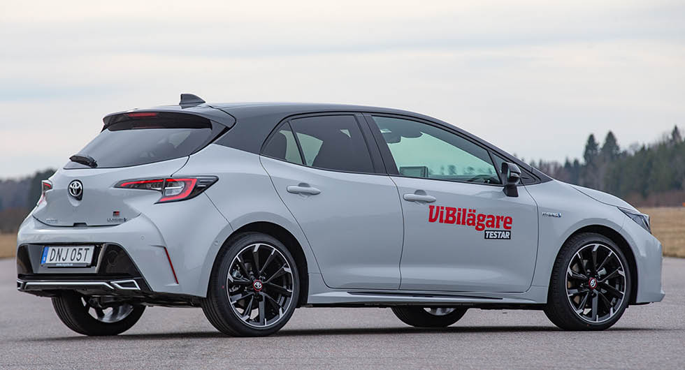 Toyota Corolla får dåligt resultat i vårt läskbackstest. Ingen storlastare!