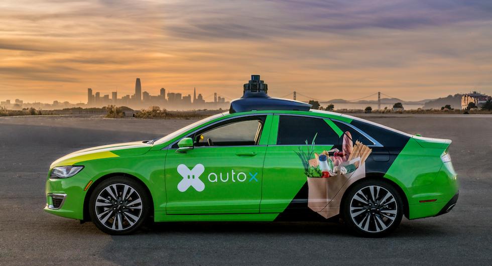 """Charlotte Eisner har själv åkt en autonom bil utvecklad av Nevs samarbetspartner AutoX. """"Det tog inte ens 30 sekunder innan jag helt slappande av"""", berättar hon. Foto: Autox"""