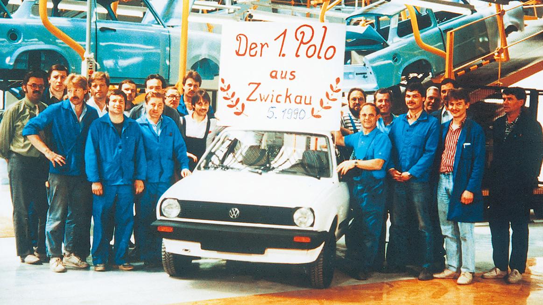 Den allra första byggda Polon i fabriken, 1990.
