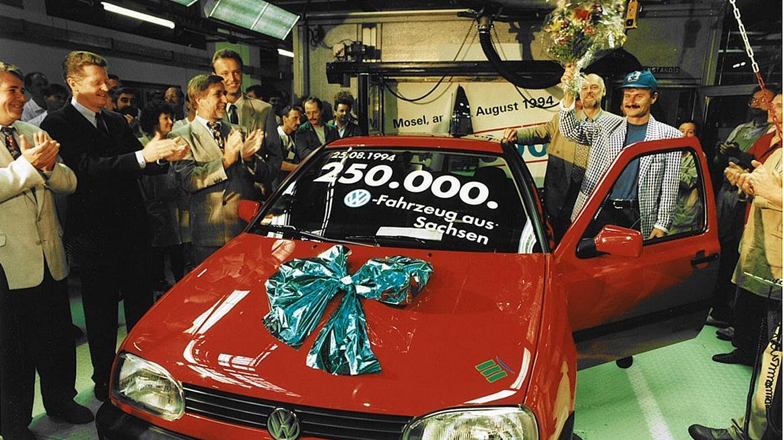 Volkswagens klassiska fabrik har byggt sin sista förbränningsbil