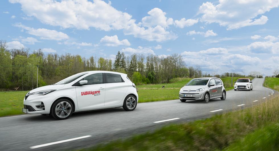 Tyst Renault med simpel fjädring. VW har bästa fjädringen och Hyundai bullrar mer än förr.