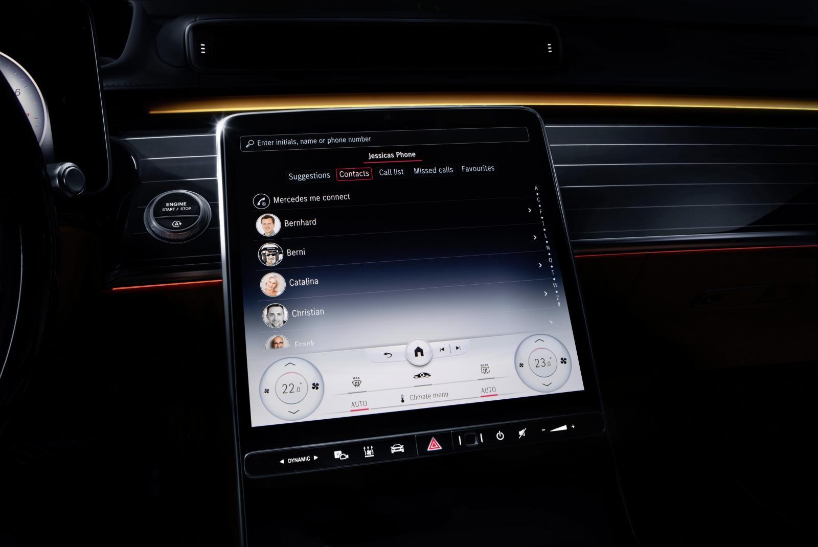 Djupdykning: Mercedes S-klass först ut med nya infotainmentsystemet