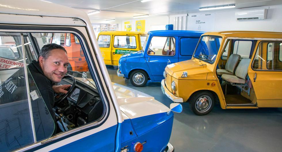Tjorven var mycket mer än postbil, vill Jimi Essén visa på Kalmarbilens första tillägnade museum.